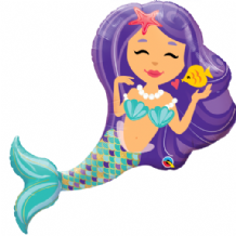 Enchanting Mermaid Large Foil Balloon 1pc